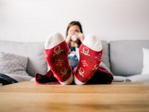 女の子 靴下 赤 クリスマス 冬