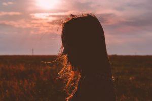 female-profile-sunset