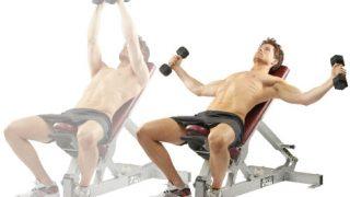 大胸筋上部を強化するインクラインダンベルフライの効果とやり方!